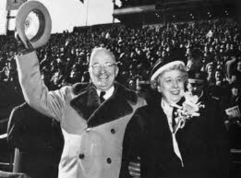 President Harry Truman at the 1950 Army/Navy game