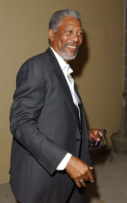 MEMPHIS, TN - JUNE 8:  Actor Morgan Freeman attends the WBC/IBF Heavyweight Championship bout between Lennox Lewis and Mike Tyson on June 8, 2002 at The Pyramid in Memphis, Tennessee. (Photo by Robert Mora/Getty Images)