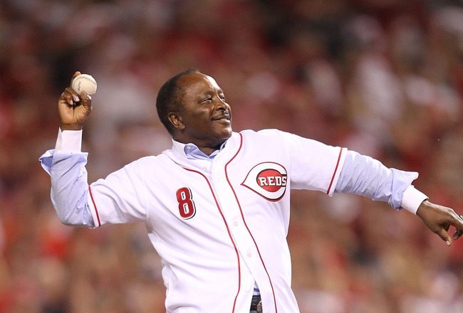 CINCINNATI - OCTOBER 10:  Joe Morgan throws out the first pitch before the Philadelphia Phillies game against the Cincinnati Reds during Game 3 of the NLDS at Great American Ball Park on October 10, 2010 in Cincinnati, Ohio.  (Photo by Andy Lyons/Getty Im