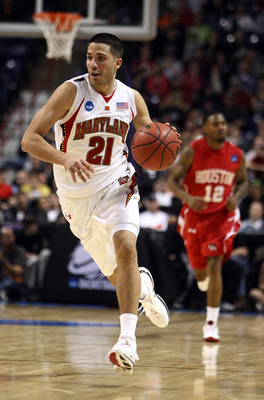 SPOKANE, WA - MARCH 19:  Greivis Vasquez #21 of the Maryland Terrapins move the ball against the Houston Cougars during the first round of the 2010 NCAA mens basketball tournament at Spokane Arena on March 19, 2010 in Spokane, Washington.  (Photo by Jona