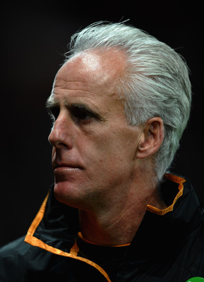 MANCHESTER, ENGLAND - OCTOBER 26: Mick McCarthy of Wolverhampton Wanderers looks on during the Carling Cup fourth round match between Manchester United and Wolverhampton Wanderers at Old Trafford on October 26, 2010 in Manchester, England.  (Photo by Laur
