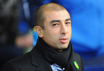WEST BROMWICH, ENGLAND - OCTOBER 23:  West Brom manager Roberto Di Matteo looks on during the Barclays Premier League match between West Bromwich Albion and Fulham at The Hawthorns on October 23, 2010 in West Bromwich, England.  (Photo by Mike Hewitt/Gett