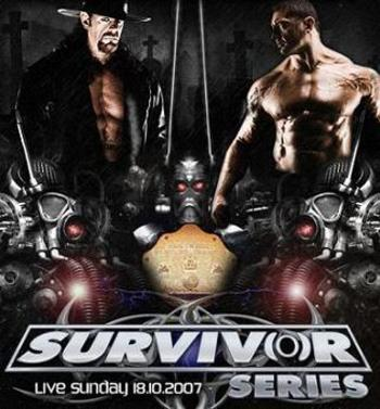 Survivor Series 2007 Promotional Poster Featuring The Undertaker and Batista