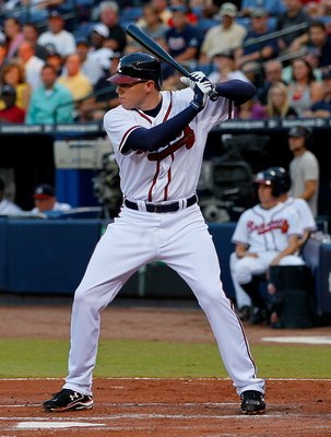 ATLANTA - SEPTEMBER 01:  Freddie Freeman #5 of the Atlanta Braves against the New York Mets at Turner Field on September 1, 2010 in Atlanta, Georgia.  (Photo by Kevin C. Cox/Getty Images)