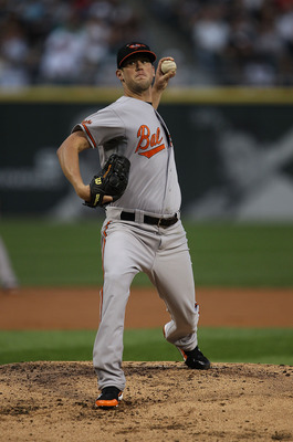 CHICAGO - AUGUST 25: Starting pitcher Brian Matusz #17 of the Baltimore Orioles delivers the ball against the Chicago White Sox at U.S. Cellular Field on August 25, 2010 in Chicago, Illinois. (Photo by Jonathan Daniel/Getty Images)