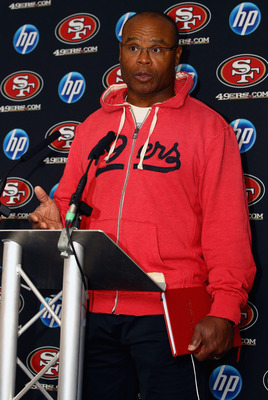 HERTFORD, ENGLAND - OCTOBER 27:  Head Coach Mike Singletary of the San Francisco 49ers attends a press conference at The Grove Hotel on October 27, 2010 in Hertford, England. The San Francisco 49ers will meet the Denver Broncos in the NFL International Se