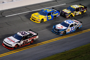 Keselowski ran well up front with the new Nationwide car at Daytona.
