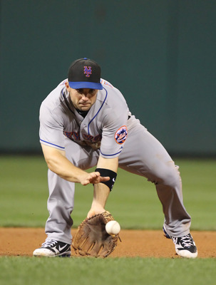 PHILADELPHIA - SEPTEMBER 25: Third baseman David Wright #5 of the New York Mets fields a ground ball during a game against the Philadelphia Phillies at Citizens Bank Park on September 25, 2010 in Philadelphia, Pennsylvania. The Mets won 5-2. (Photo by Hun