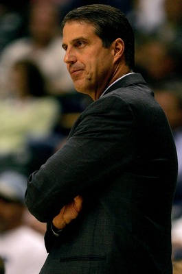 INDIANAPOLIS - OCTOBER 19:  Head coach Randy Wittman of the Minnesota Timberwolves on the sidelines against the Indiana Pacers October 19, 2007 at Conseco Fieldhouse in Indianapolis, Indiana.  (Photo by Matthew Stockman/Getty Images)