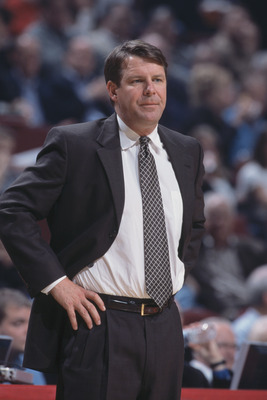 4 Dec 2001:  Head coach Tim Floyd of the Chicago Bulls stands on the sideline during the NBA game against the Houston Rockets at the United Center in Chicago, Illinois.  The Bulls crushed the Rockets 103-75.Mandatory Credit:  Jonathan Daniel/Getty Images