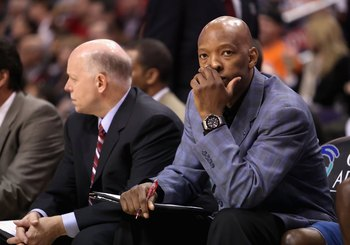 PHOENIX - DECEMBER 19:  Assistant coach Sam Cassell of the Washington Wizards during the NBA game against the Phoenix Suns at US Airways Center on December 19, 2009 in Phoenix, Arizona. The Suns defeated the Wizards 121-95. NOTE TO USER: User expressly ac