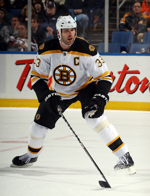 BUFFALO, NY - NOVEMBER 03:  Zdeno Chara #33 of the Boston Bruins skates against the Buffalo Sabres at the HSBC Arena on November 3, 2010 in Buffalo, New York. The Bruins defeated the Sabres 5-2.  (Photo by Bruce Bennett/Getty Images)