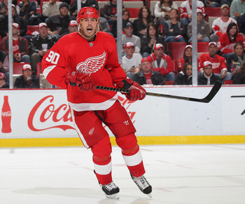 DETROIT,MI - NOVEMBER 8:  Mike Modano #90 of the Detroit Red Wings skates in a game against the Phoenix Coyotes on November 8,2010 at the Joe Louis Arena in Detroit, Michigan. The Wings defeated the Coyotes 3-2 on overtime. (Photo by Claus Andersen/Getty