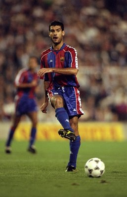 24 Sep 1994:  Josep Guardiola of Barcelona. \ Mandatory Credit: Clive  Brunskill/Allsport