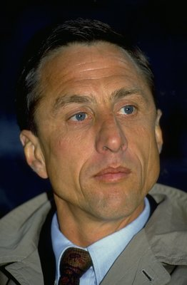 24 Apr 1991:  Portrait of Barcelona Coach Johan Cryuff during the European Cup Winners Cup semi-final against Juventus at the Delle Alpi Stadium in Turin, Italy. Juventus won the match 1-0. \ Mandatory Credit: Shaun  Botterill/Allsport