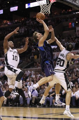 SAN ANTONIO - APRIL 29:  Dirk Nowitzki #41 of the Dallas Mavericks in Game Six of the Western Conference Quarterfinals during the 2010 NBA Playoffs at AT&amp;T Center on April 29, 2010 in San Antonio, Texas. NOTE TO USER: User expressly acknowledges and agree