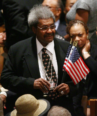 WASHINGTON - APRIL 29:  Boxing promoter Don King attends the funeral service for civil rights leader Dorothy Height at the Washington National Cathedral April 29, 2010 in Washington, DC. Height led the National Council of Negro Women and marched with the