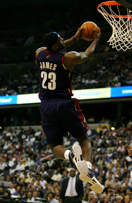 WASHINGTON - APRIL 28:  Lebron James #23 of the Cleveland Cavaliers dunks the ball against the Washington Wizards during Game 3 of the Eastern Conference Semifinals in the 2007 NBA Playoffs at the Verizon Center on April 28, 2007 in Washington, D.C. NOTE
