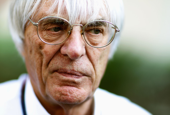 ABU DHABI, UNITED ARAB EMIRATES - NOVEMBER 11:  F1 supremo Bernie Ecclestone is seen during previews to the Abu Dhabi Formula One Grand Prix at the Yas Marina Circuit on November 11, 2010 in Abu Dhabi, United Arab Emirates.  (Photo by Paul Gilham/Getty Im