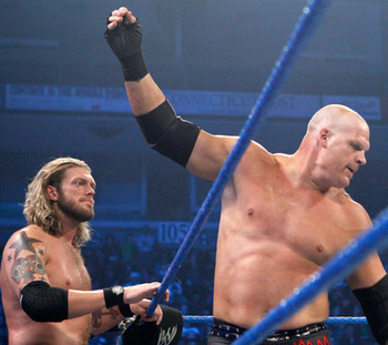 Edge and Kane, photo copyright to WWE.com