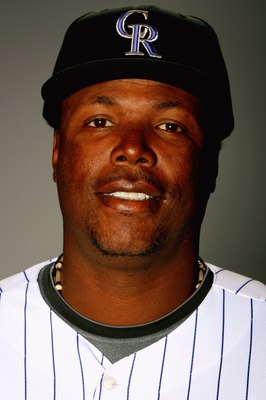 TUCSON, AZ - FEBRUARY 22: Glenallen Hill of the Colorado Rockies poses during photo day at the Rockies spring training complex on February 22, 2009 in Tuscon, Arizona.  (Photo by Matthew Stockman/Getty Images)