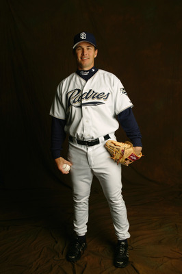 PEORIA, AZ - FEBRUARY 26:  Steve Sparks #47 of the San Diego Padres poses for a portrait during the San Diego Padres Photo Day at Peoria Stadium on February 26, 2005 in Peoria, Arizona. (Photo by Nick Laham/Getty Images)
