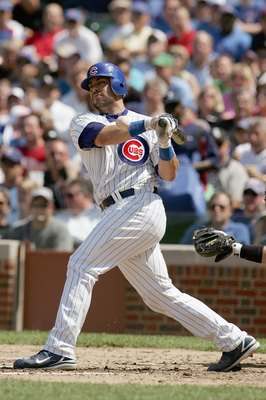 CHICAGO - JUNE 20:  Geovany Soto #18 of the Chicago Cubs swings at a pitch during the game against the Chicago White Sox on June 20, 2008 at Wrigley Field in Chicago, Illinois. The Cubs defeated the White Sox 4-3. (Photo by Jonathan Daniel/Getty Images)