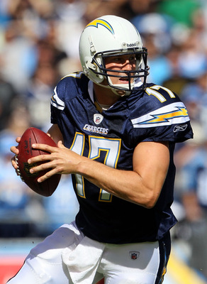 SAN DIEGO - OCTOBER 31:  Quarterback Philip Rivers #17 of the San Diego Chargers plays in the game against the Tennessee Titans at Qualcomm Stadium on October 31, 2010 in San Diego, California. The Chargers defeated the Titans 33-25.  (Photo by Jeff Gross