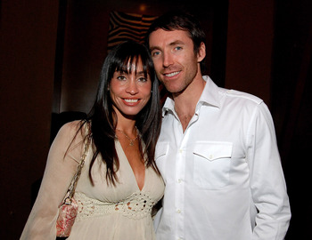 LAS VEGAS - FEBRUARY 17:  Steve Nash, and wife Alejandra attend the NBA All-Star Weekend Party hosted by GQ Magazine and Steve Nash of the Phoenix Suns in the VBar at the Venetian Hotel on February 17, 2007 in Las Vegas, Nevada.  (Photo by Steve Spatafore