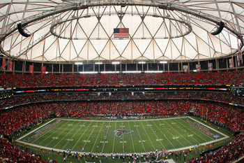 ATLANTA - NOVEMBER 07:  A general view of the Georgia Dome before the Atlanta Falcons and the Tampa Bay Buccaneers on November 7, 2010 in Atlanta, Georgia.  (Photo by Kevin C. Cox/Getty Images)