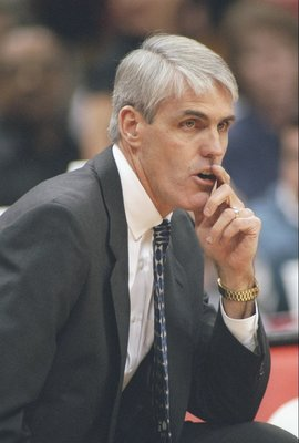 26 Nov 1996: Head coach Brian Winters of the Vancouver Grizzlies looks on during a game against the Atlanta Hawks at The Omni in Atlanta, Georgia. The Hawks won the game 101-80.