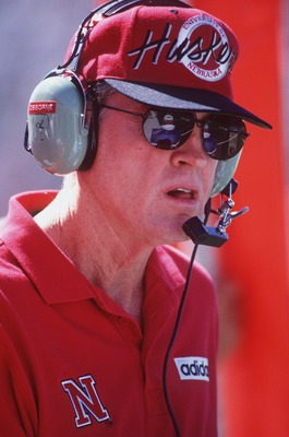 9 Sep 1995: Head coach Tom Osborne of the University of Nebraska during the Corn Huskers 50-10 win over Michigan State at Spartan Stadium in East Lansing, Michigan.