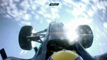 Webber's view before the landing
