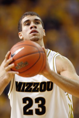 COLUMBIA, MISSOURI - FEBRUARY 14:  Justin Safford #23 of the Missouri Tigers looks to make a free throw against the Nebraska Huskers during the game on February 14, 2009 at Mizzou Arena in Columbia, Missouri. (Photo by: Jamie Squire/Getty Images)