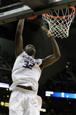KANSAS CITY, MO - MARCH 11:  Jamar Samuels #32 of the Kansas State Wildcats goes up for a dunk in the second half against the Oklahoma State Cowboys during the quarterfinals of the 2010 Phillips 66 Big 12 Men's Basketball Tournament at the Sprint Center o