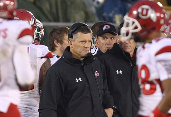Utah Coach Kyle Whittingham is watching his season fall apart