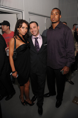 NEW YORK - APRIL 28:  Co-founder of PR/PR Phil Reese (C), model Jenn Sterger (L) and Ryan Grant (R) #25 of the Green Bay Packers attend the PR/PR launch party at Red Bull Space on April 28, 2009 in New York City.  (Photo by Jamie McCarthy/Getty Images for
