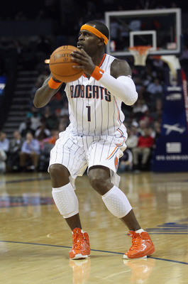 CHARLOTTE, NC - NOVEMBER 08:  Stephen Jackson #1 of the Charlotte Bobcats against the San Antonio at Time Warner Cable Arena on November 8, 2010 in Charlotte, North Carolina.  NOTE TO USER: User expressly acknowledges and agrees that, by downloading and/o