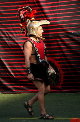 SAN DIEGO - NOVEMBER 7:    The San Diego State Aztecs mascot on the sidelines during the game with the Texas Christian University Horned Frogs on November 7, 2009 at Qualcomm Stadium in San Diego, California.    (Photo by Stephen Dunn/Getty Images)