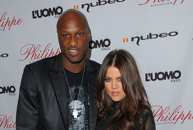 WEST HOLLYWOOD, CA - OCTOBER 12:  Khloe Kardashian and her husband Lamar Odom arrive at the Philippe Restaurant West Hollywood grand opening on October 12, 2009 in West Hollywood, California.  (Photo by Jason Merritt/Getty Images)