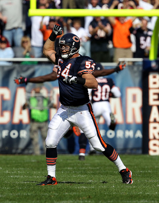 Chicago Bears linebacker Brian Urlacher