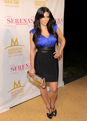 BEL AIR, CA - JULY 12:  Actress Kim Kardashian attends professional tennis player Serena Williams' Pre-ESPYs House Party held at a private residence on July 12, 2010 in Bel Air, California.  (Photo by Charley Gallay/Getty Images for SW)