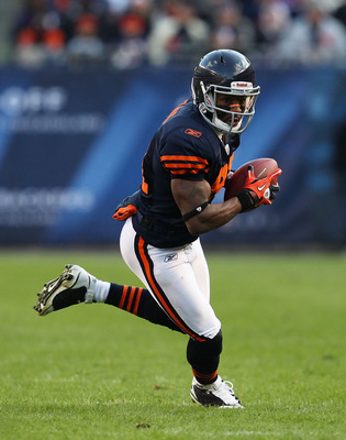 CHICAGO - NOVEMBER 14: Rashied Davis #81 of the Chicago Bears runs after a catch against the Minnesota Vikings at Soldier Field on November 14, 2010 in Chicago, Illinois. The Bears defeated the Vikings 27-13. (Photo by Jonathan Daniel/Getty Images)