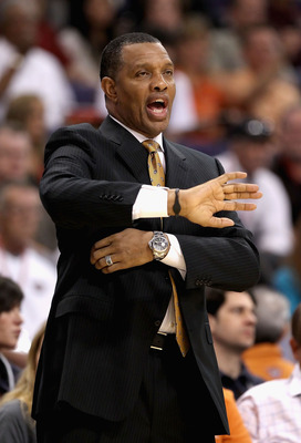 PHOENIX - NOVEMBER 15:  Head coach Alvin Gentry of the Phoenix Suns directs his team during the NBA game against the Denver Nuggets at US Airways Center on November 15, 2010 in Phoenix, Arizona.  The Suns defeated the Nuggets 100-94.  NOTE TO USER: User e