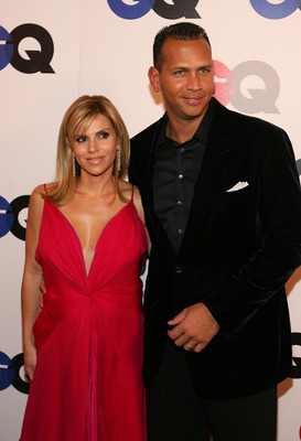 HOLLYWOOD - DECEMBER 05:  Pro baseball player Alex Rodriguez (R) and Cynthia Rodriguez arrive at the GQ 2007 Men Of The Year celebration at Chateau Marmont on December 5, 2007 in Hollywood, California.  (Photo by Frazer Harrison/Getty Images)
