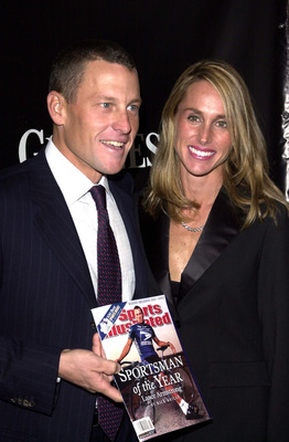NEW YORK - DECEMBER 10:  Four time Tour De France winner Lance Armstrong and his wife Kristin attend the Sports Illustrated Sportsman of the Year Award where he was honored on December 10, 2002 in New York City.  (Photo by Keith Bedford/Getty Images)