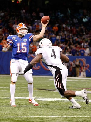 Tim Tebow in his final college game against Cincinnati was an amazing college football player