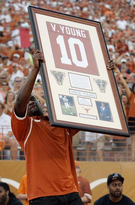 Vince Young being honored in August of 2008.