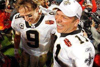Brunell right, Brees left after Super Bowl XLIV