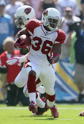 LaRod Stephens-Howling adds another dimension to the Arizona Cardinals ground game - Speed.